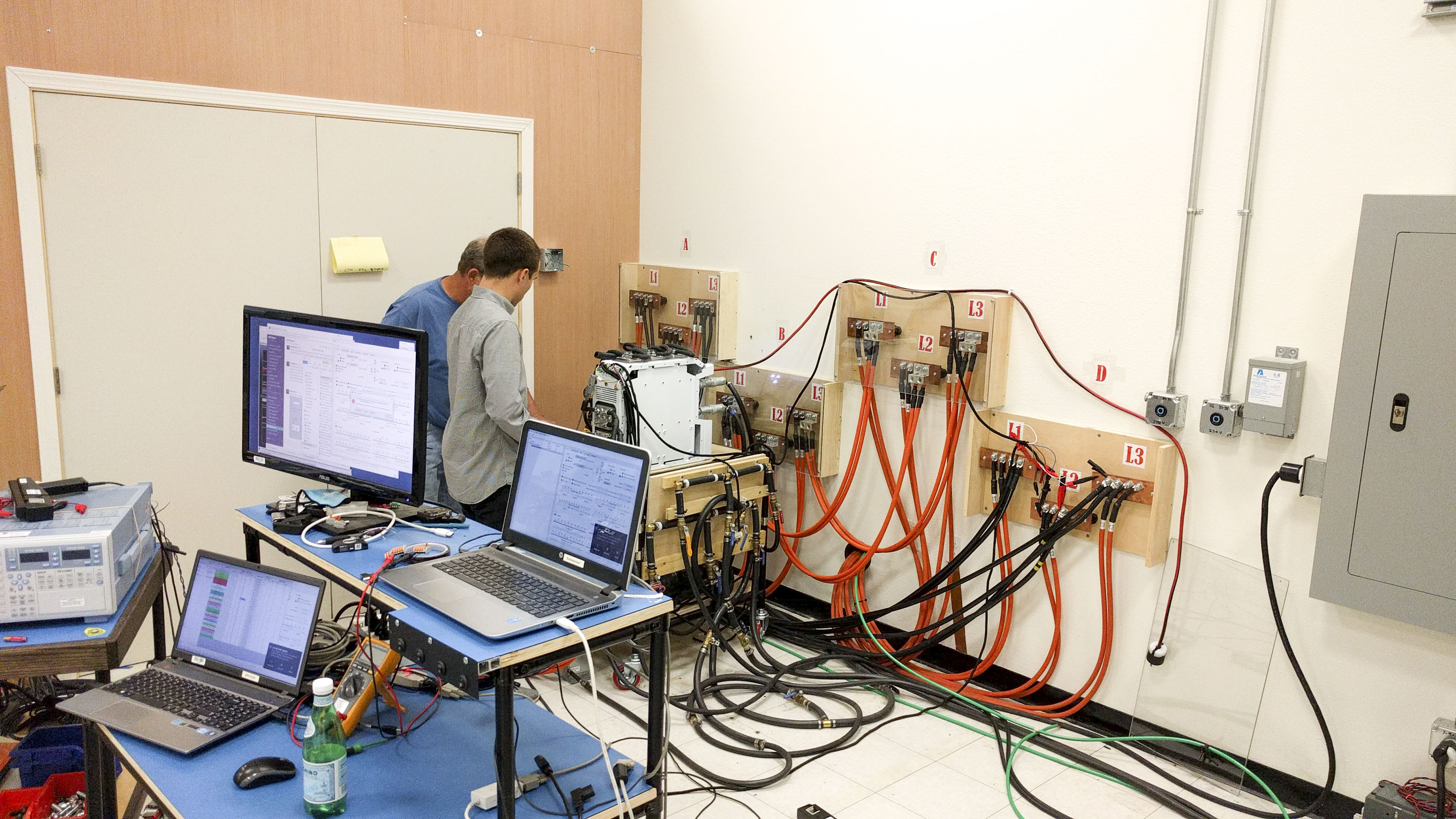 EPC Power testing controllers at full power lab