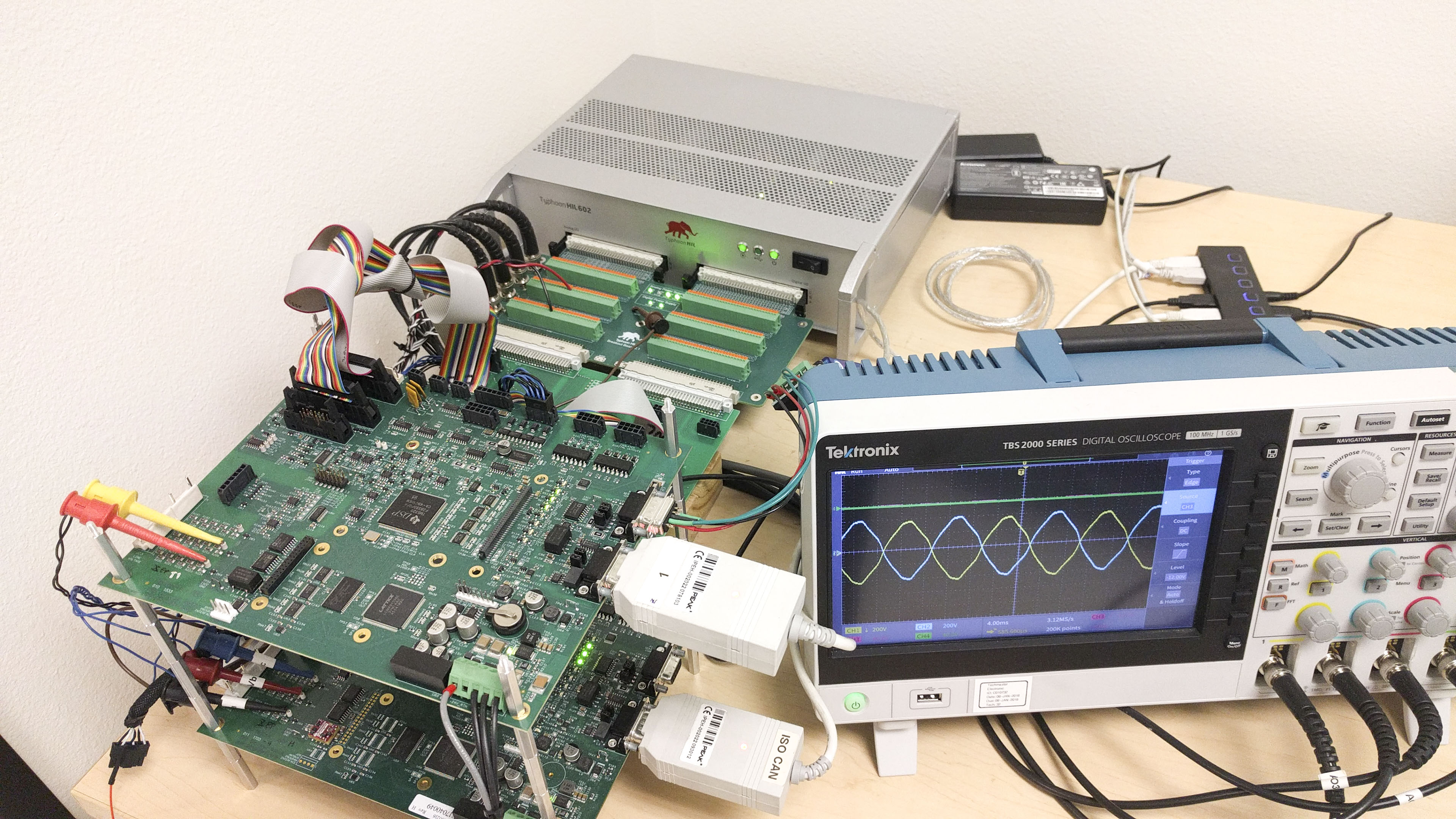 Controller Hardware-in-the-Loop setup with EPC Power controllers