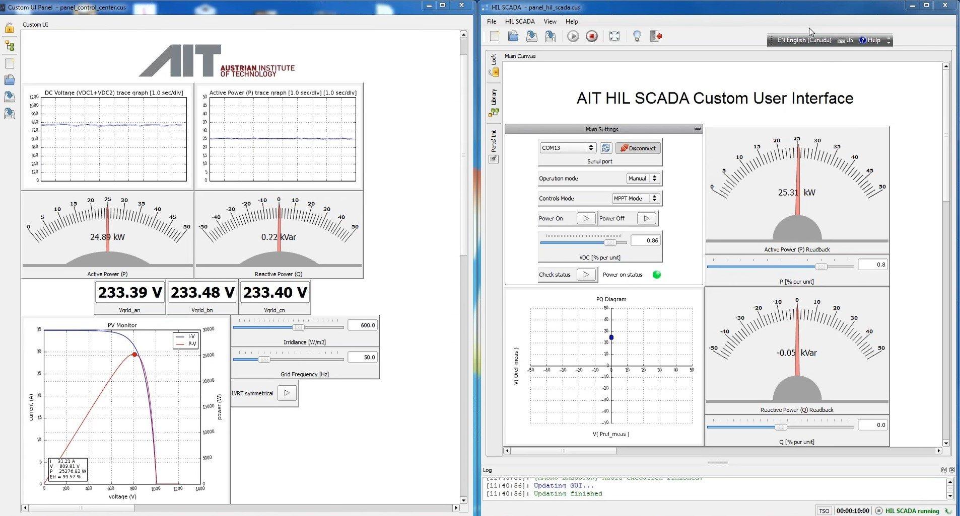 AIT HIL SCADA Custom user interface
