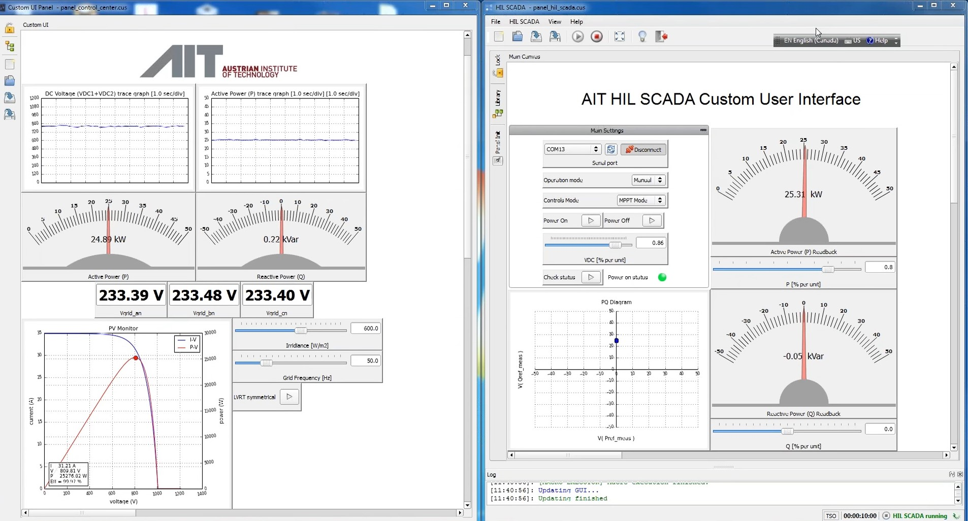 AIT HIL SCADA Custom user interface