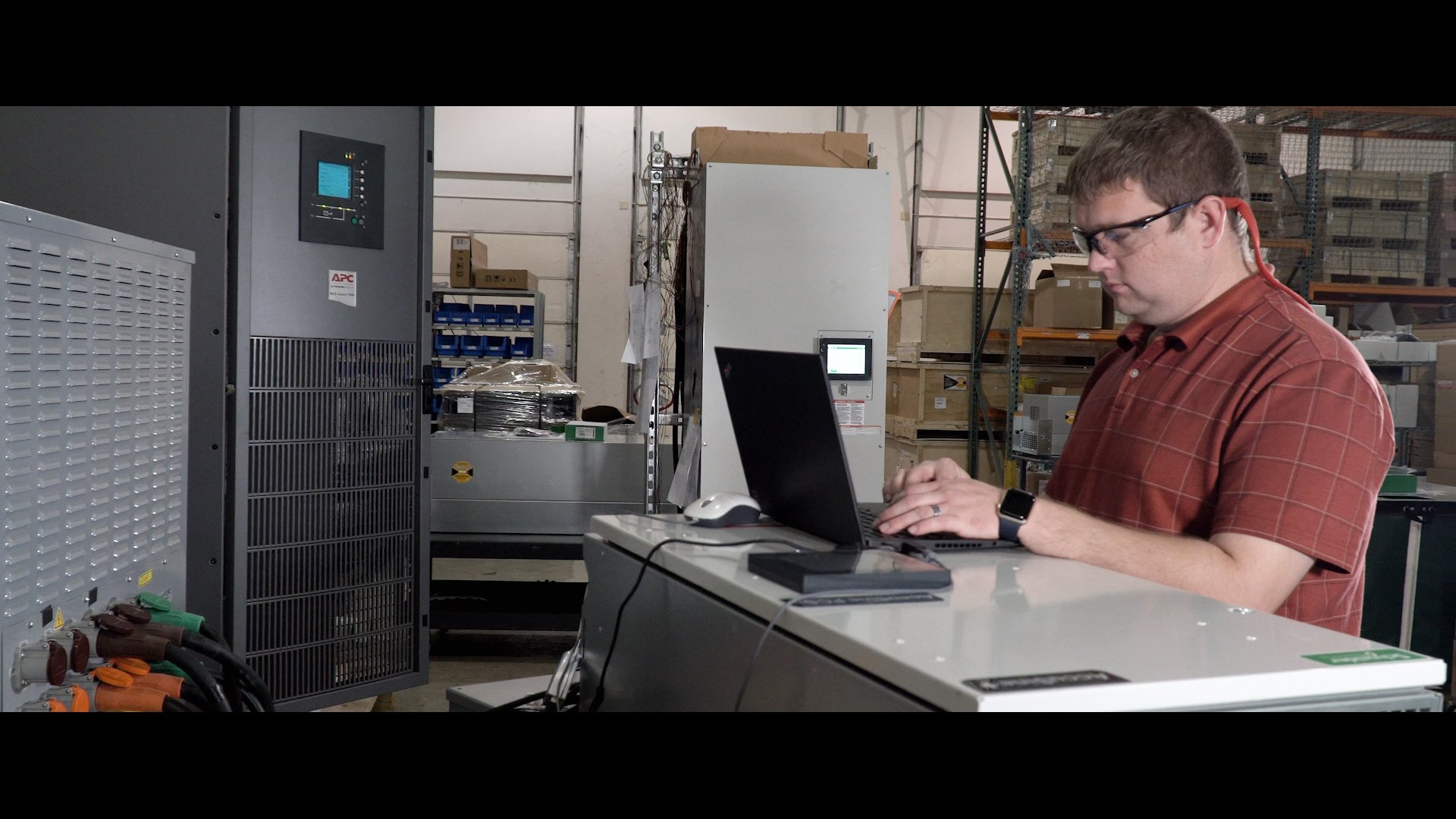 Schneider Electric AccuSine active harmonic filters testing at power laboratory