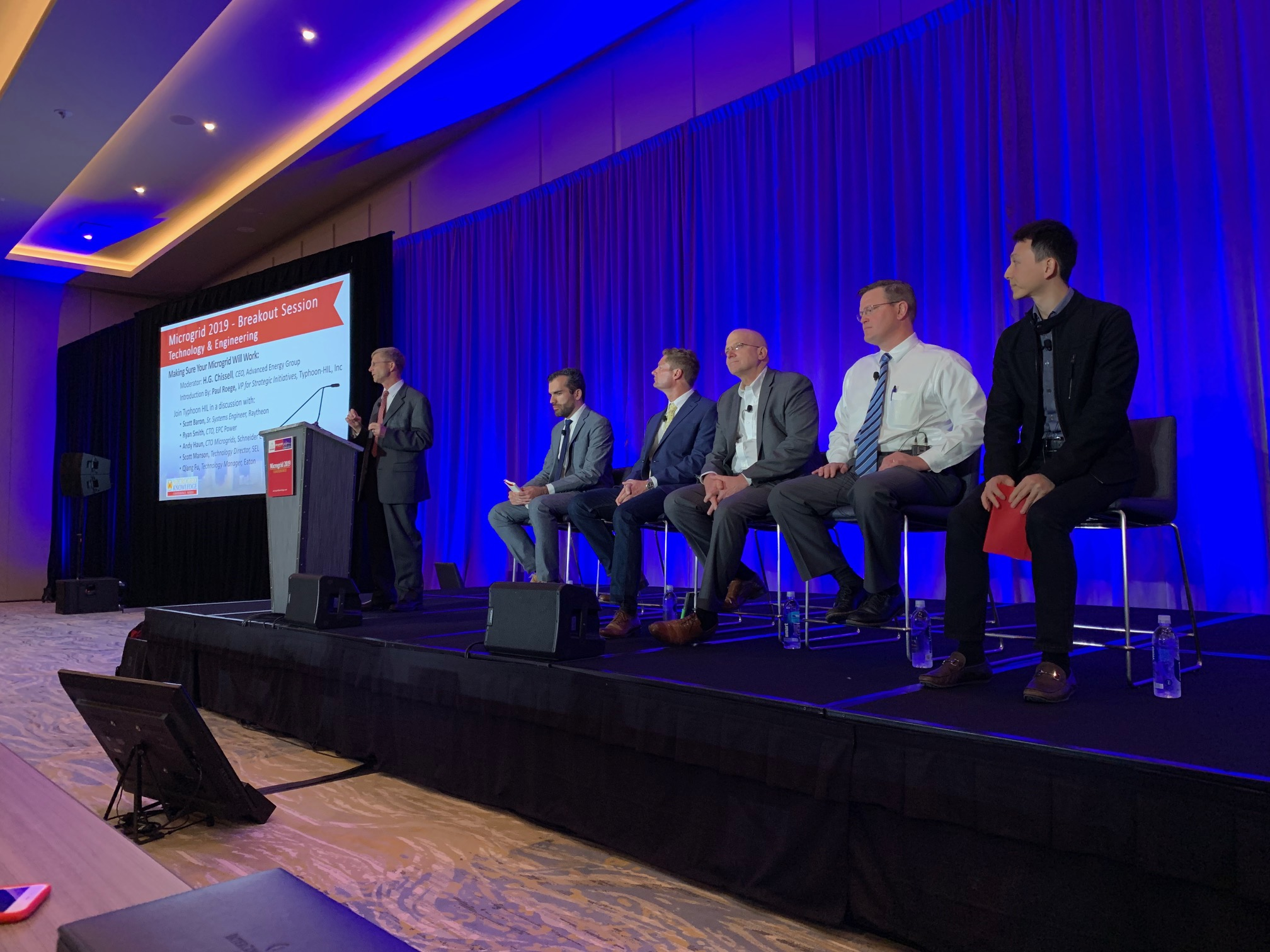 Microgrid Conference 2019 breakout session on microgrid controller hadware-in-the-loop