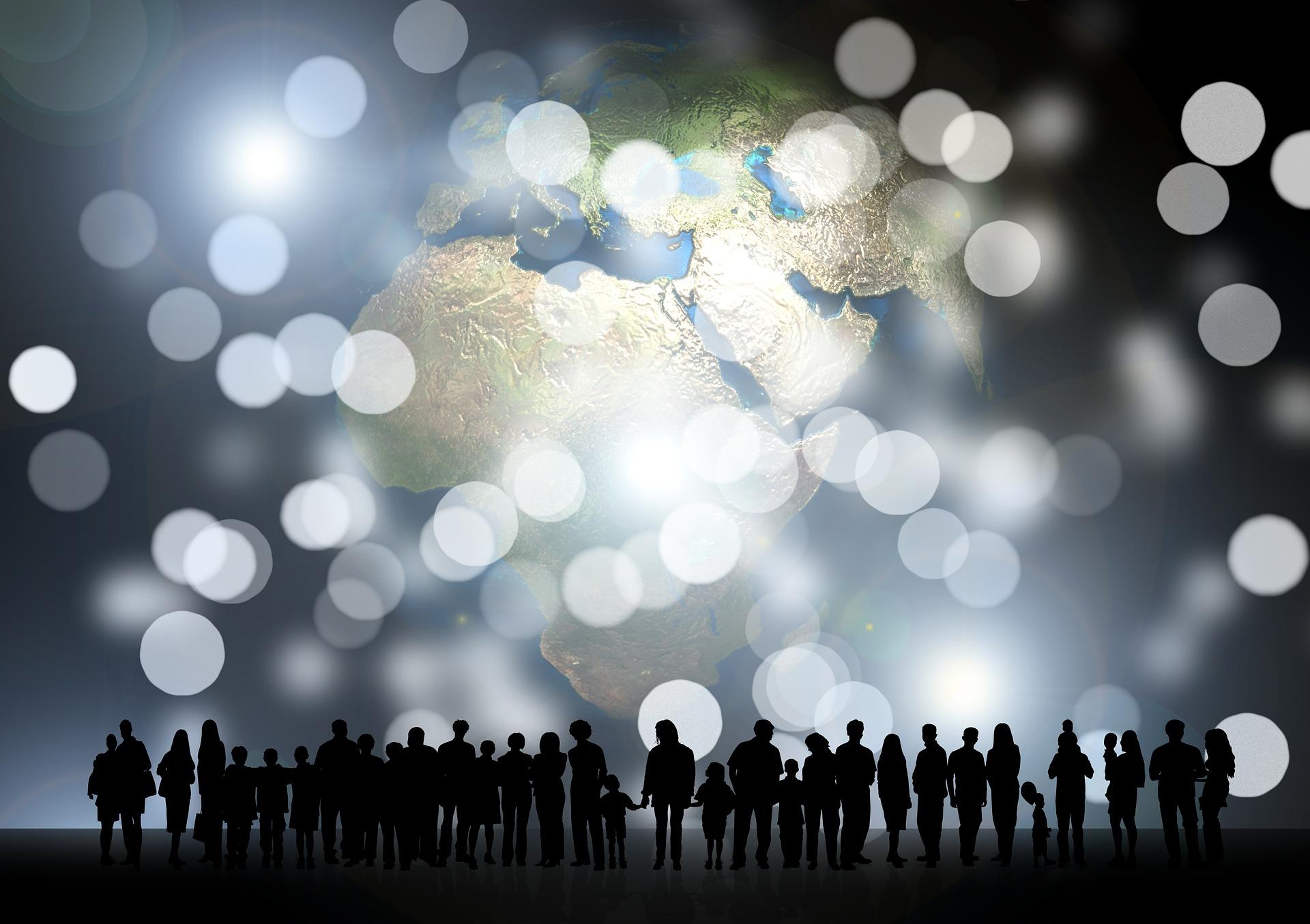 People in light